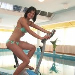 Abbie Cat gets a warm pulverizing at the gym